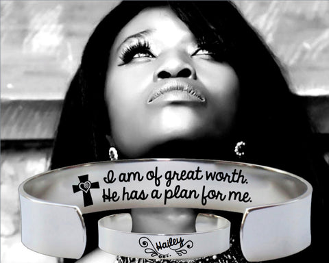 I Am of Great Worth Bracelet | Christian Gift