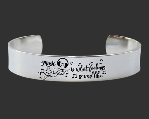 Music Is What Feelings Sound Like | Music Lover Gift