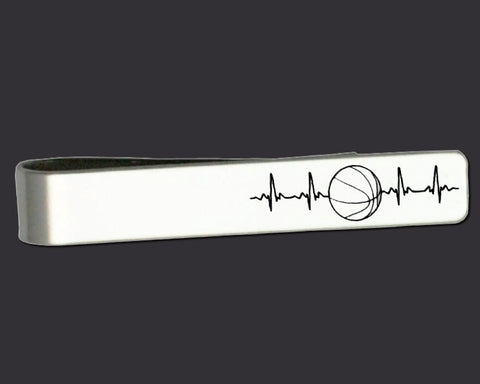Basketball EKG Tie Bar