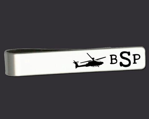 Helicopter Personalized Tie Bar