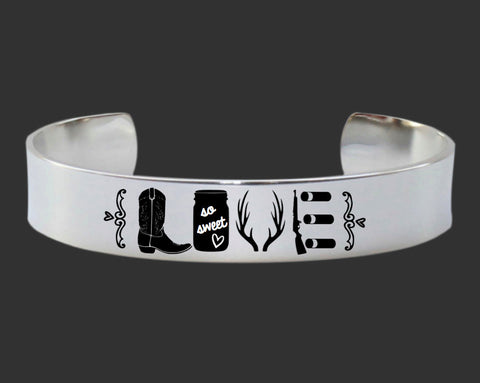 Deer Hunting Love Bracelet | Southern Jewelry