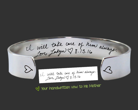 Mother of the Groom Custom Handwriting Bracelet