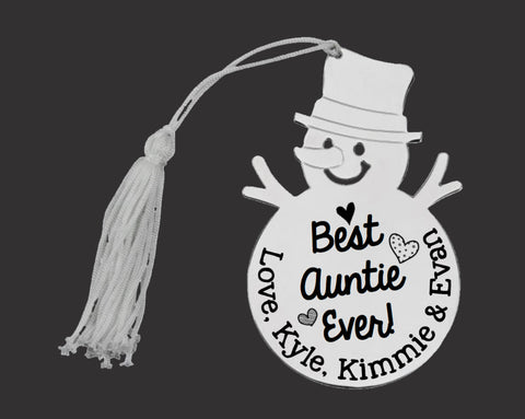 Best Auntie Ever Personalized Christmas Ornament
