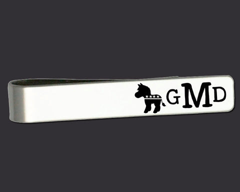 Democrat Monogram Tie Bar