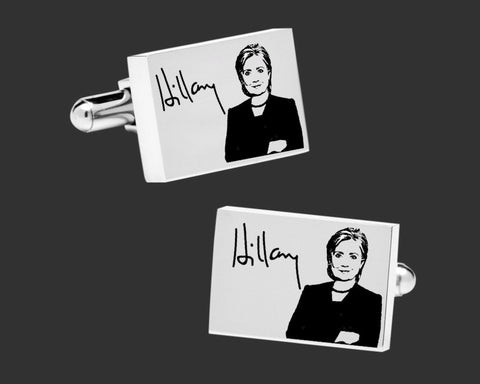 Hillary Clinton Cuff Links