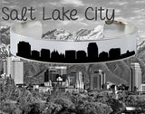 Salt Lake City Skyline Cityscape Bracelet