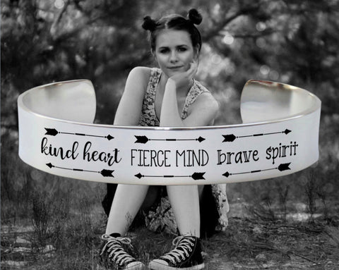 Kind Heart Fierce Mind Brave Spirit Bracelet