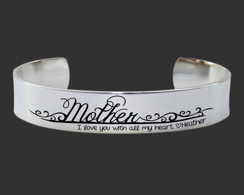 Mother I Love You With All My Heart Bracelet