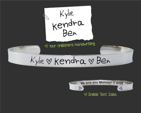 Your Childrens HandWriting Custom Bracelet