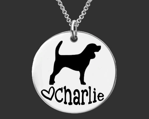 Beagle Dog Personalized Necklace