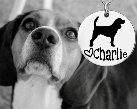 Beagle Dog Personalized Jewelry