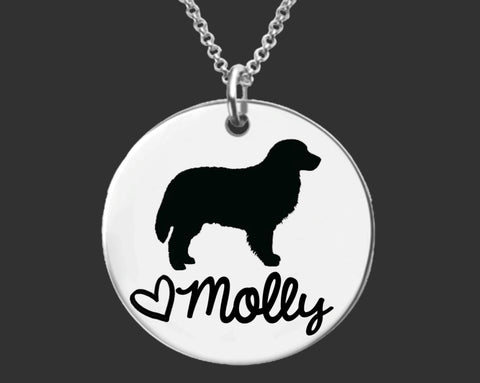 Bernese Mountain Dog Personalized Necklace