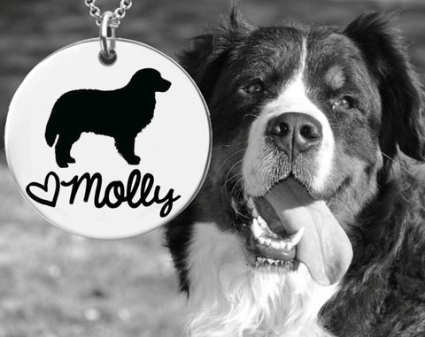 Bernese Mountain Dog Personalized Jewelry | Dog Necklace