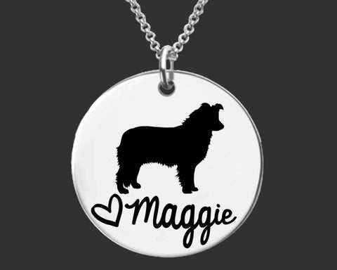 Border Collie Personalized Necklace