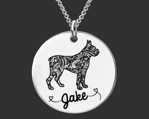 Boxer Personalized Necklace