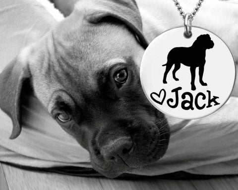 Bullmastiff Personalized Necklace | Dog Necklace