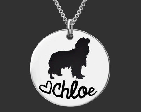 Cavalier King Charles Spaniel Personalized Necklace