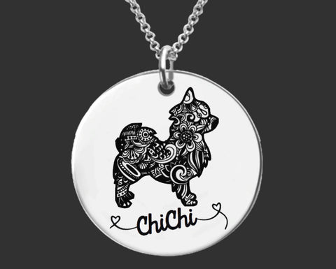 Chihuahua Personalized Necklace