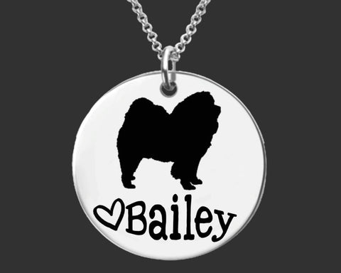 Chow Chow Personalized Necklace