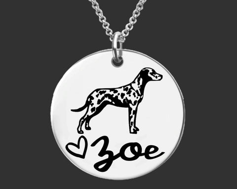 Dalmatian Personalized Necklace