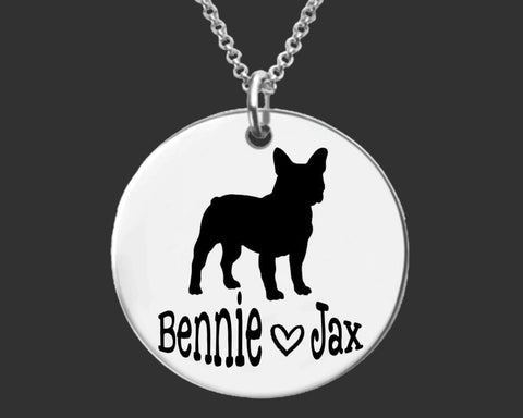 French Bulldog Personalized Necklace