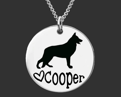 German Shepard Personalized Necklace