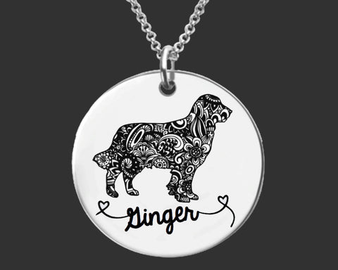 Golden Retriever Personalized Necklace
