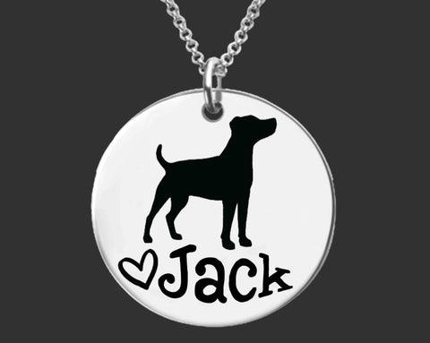 Jack Russell Personalized Necklace