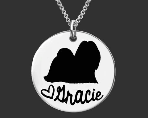 Lhasa Apsos Personalized Necklace