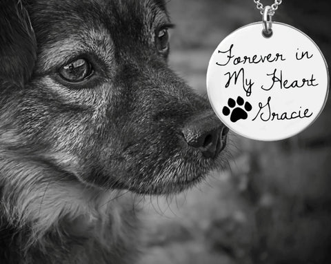 Forever in My Heart Personalized Dog Memory Necklace