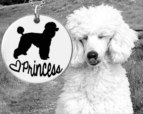 Poodle Personalized Necklace | Poodle Customized Necklace
