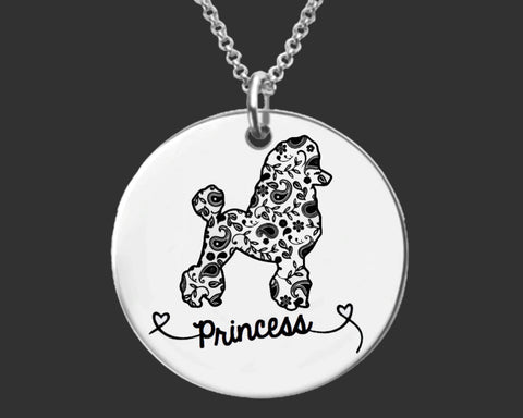 Poodle Personalized Necklace
