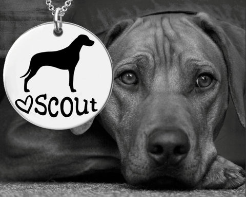 Rhodesian Ridgeback Personalized Necklace