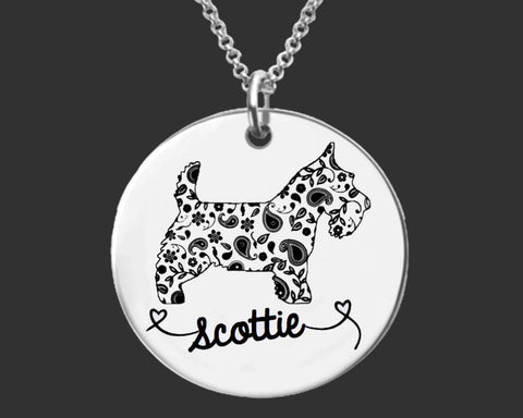 Scottie Dog Personalized Necklace