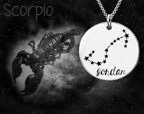 Scorpio Constellation Zodiac Jewelry