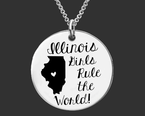 Illinois Girls Necklace | Illinois State