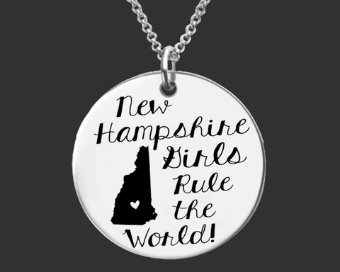 New Hampshire Girls Necklace | New Hampshire State