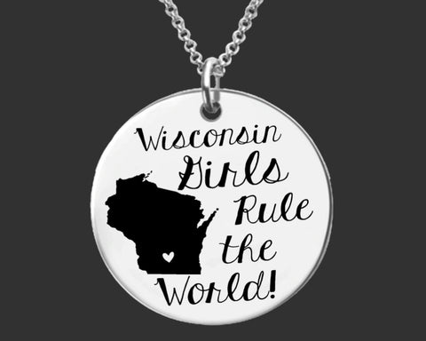 Wisconsin Girls Necklace | Wisconsin State