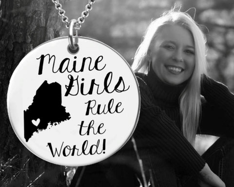 Maine Girls Necklace | Maine State