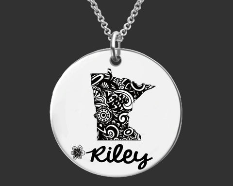 Minnesota Personalized Jewelry | Minnesota State