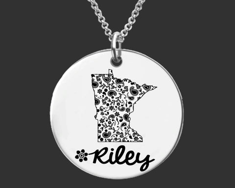 Minnesota Personalized Necklace | Minnesota State