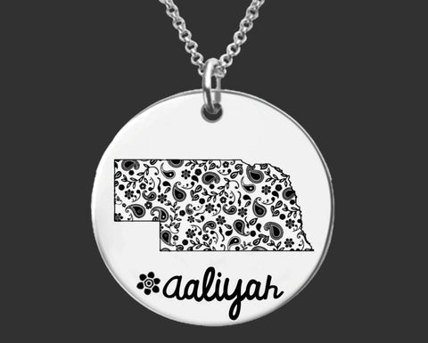 Nebraska Necklace | Nebraska State