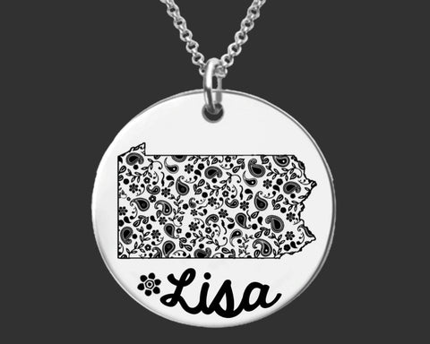 Pennsylvania Personalized Jewelry | Pennsylvania State