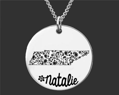Tennessee Personalized Jewelry | Tennessee State