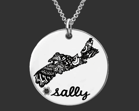 Nova Scotia Personalized Necklace | Nova Scotia Canada