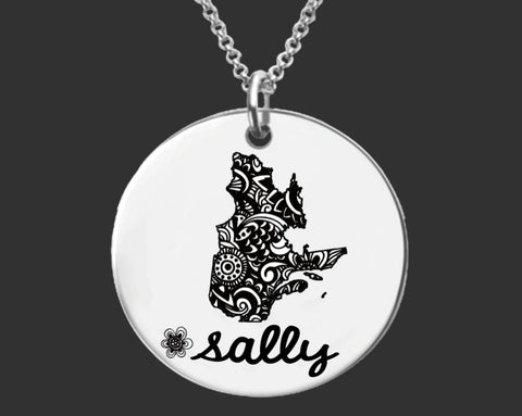 Quebec Personalized Necklace | Quebec Canada