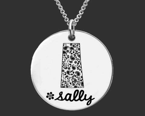 Saskatchewan Personalized Necklace | Saskatchewan Canada