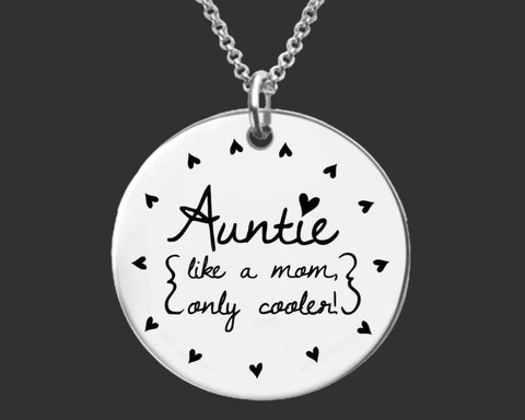 Auntie Necklace | Gift for Aunt