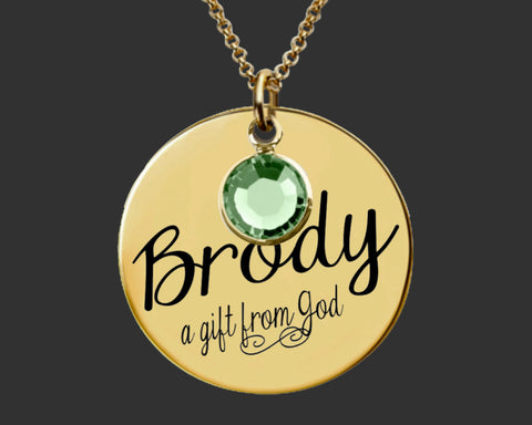 Gold Personalized Mother's Necklace | Mother's Day