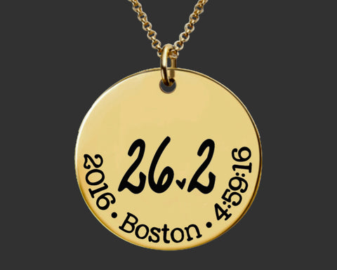 26.2 Necklace Gold | Marathon Necklace